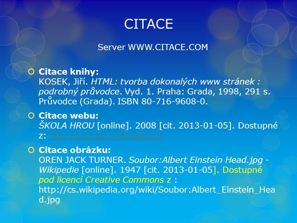CITACE Server WWW.CITACE.COM