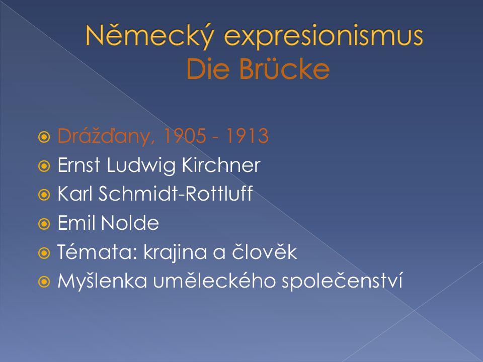 Německý expresionismus Die Brücke