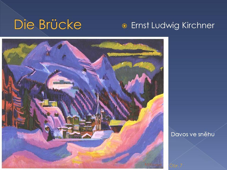 Die Brücke Ernst Ludwig Kirchner Davos ve sněhu Obr. 7