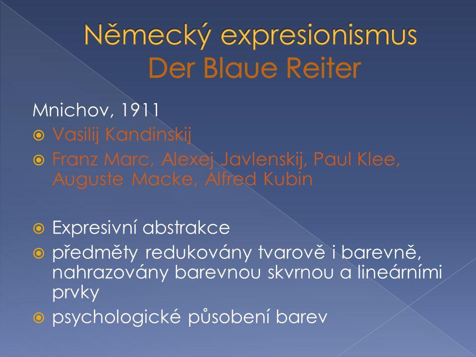 Německý expresionismus Der Blaue Reiter