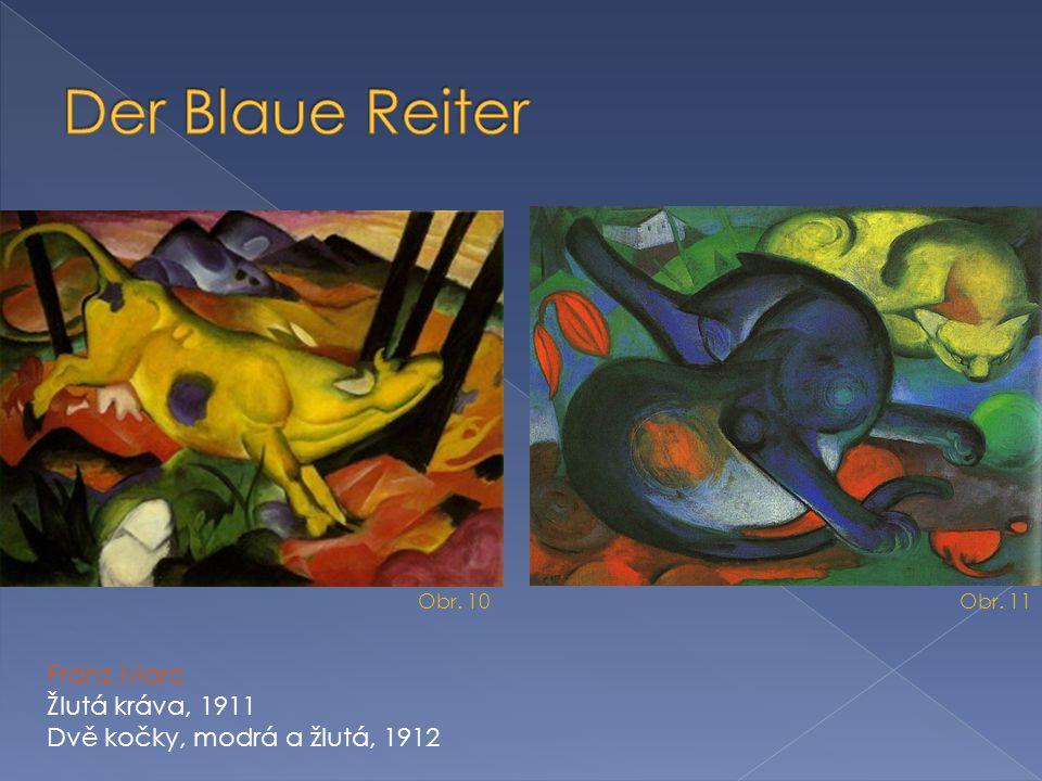 Der Blaue Reiter Franz Marc Žlutá kráva, 1911