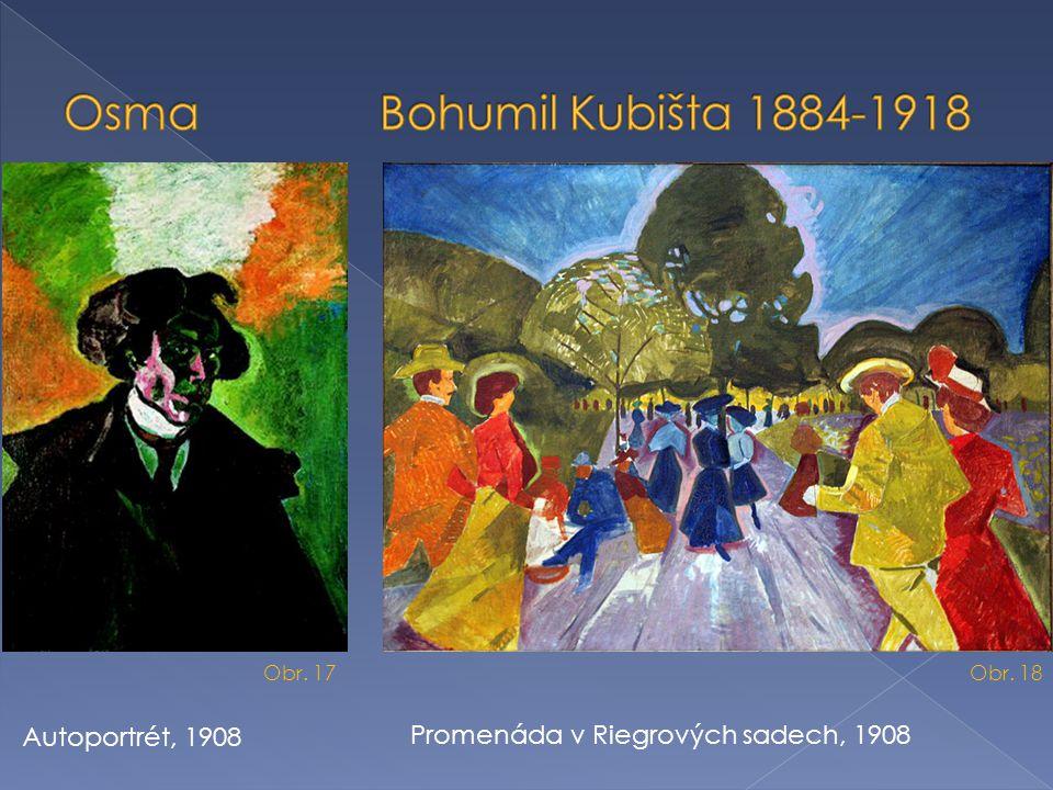 Osma Bohumil Kubišta 1884-1918 Autoportrét, 1908