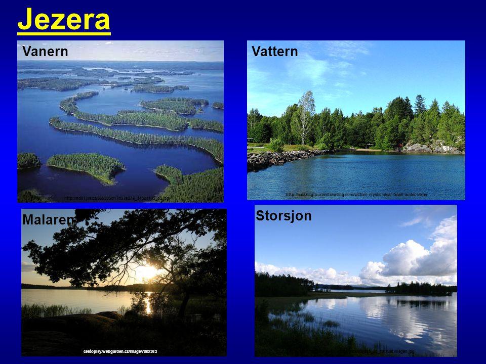 Jezera Vanern Vattern Storsjon Malaren