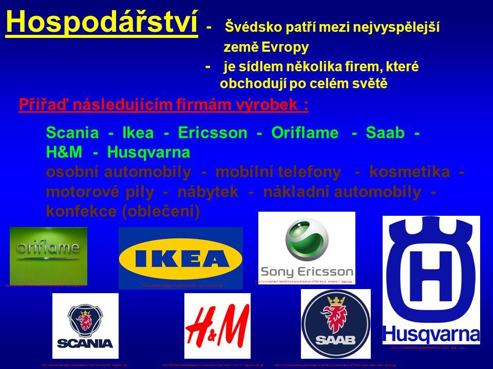 Hospodářství - Švédsko patří mezi nejvyspělejší