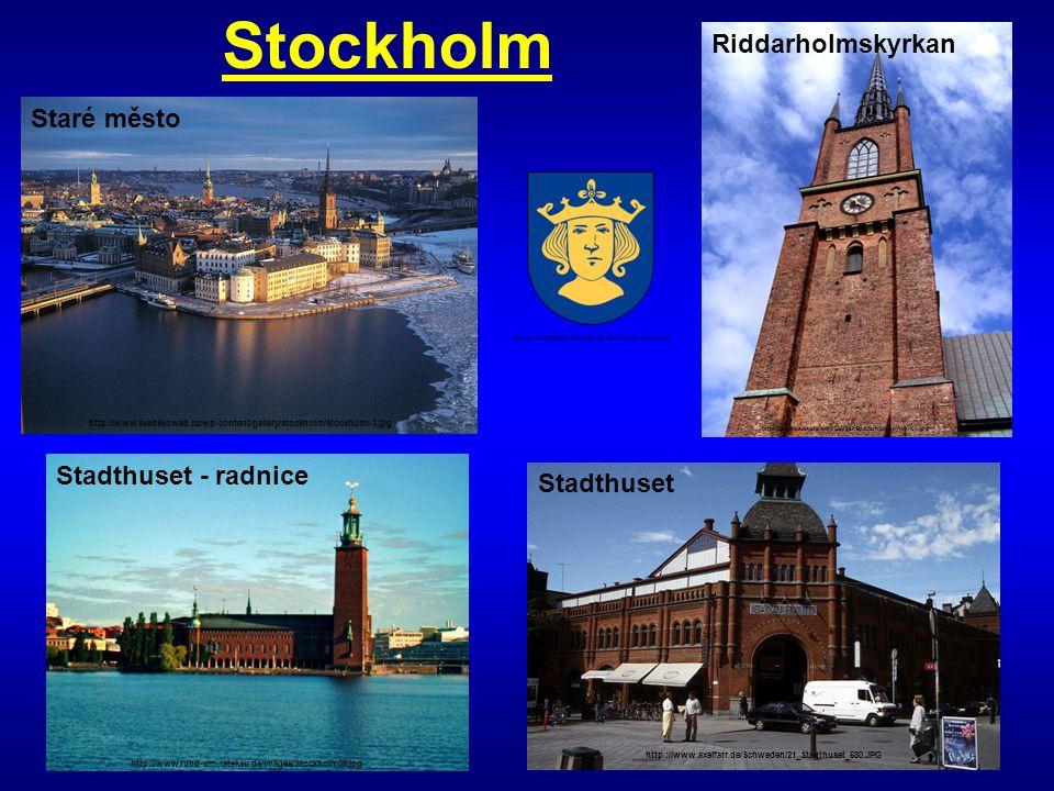 Stockholm Riddarholmskyrkan Staré město Stadthuset - radnice