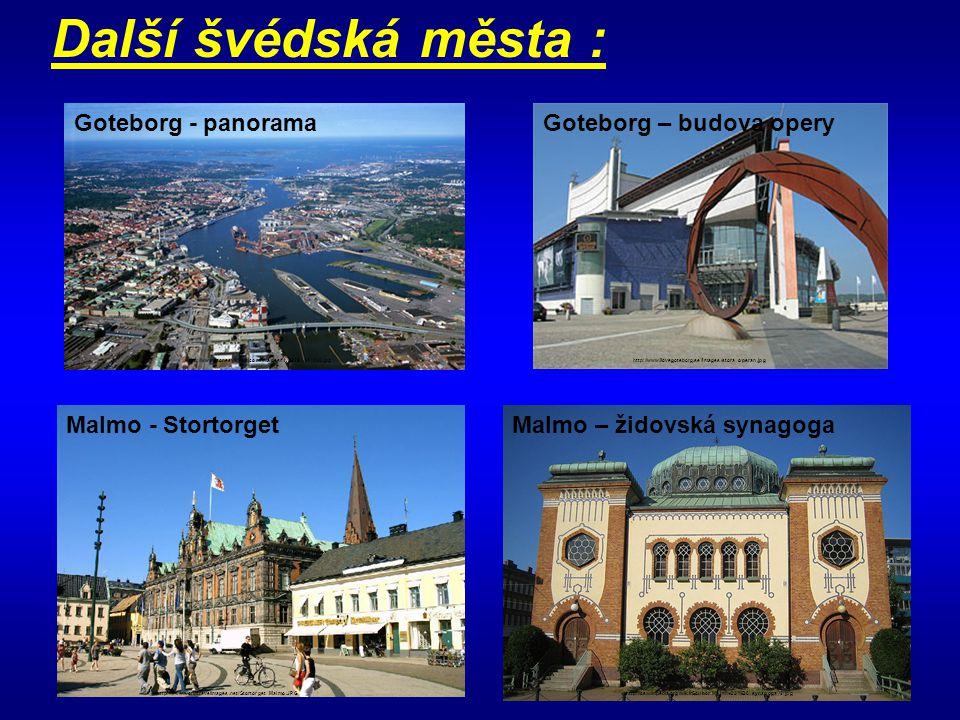 Další švédská města : Goteborg - panorama Goteborg – budova opery