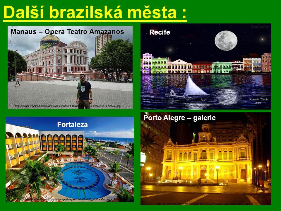Další brazilská města :
