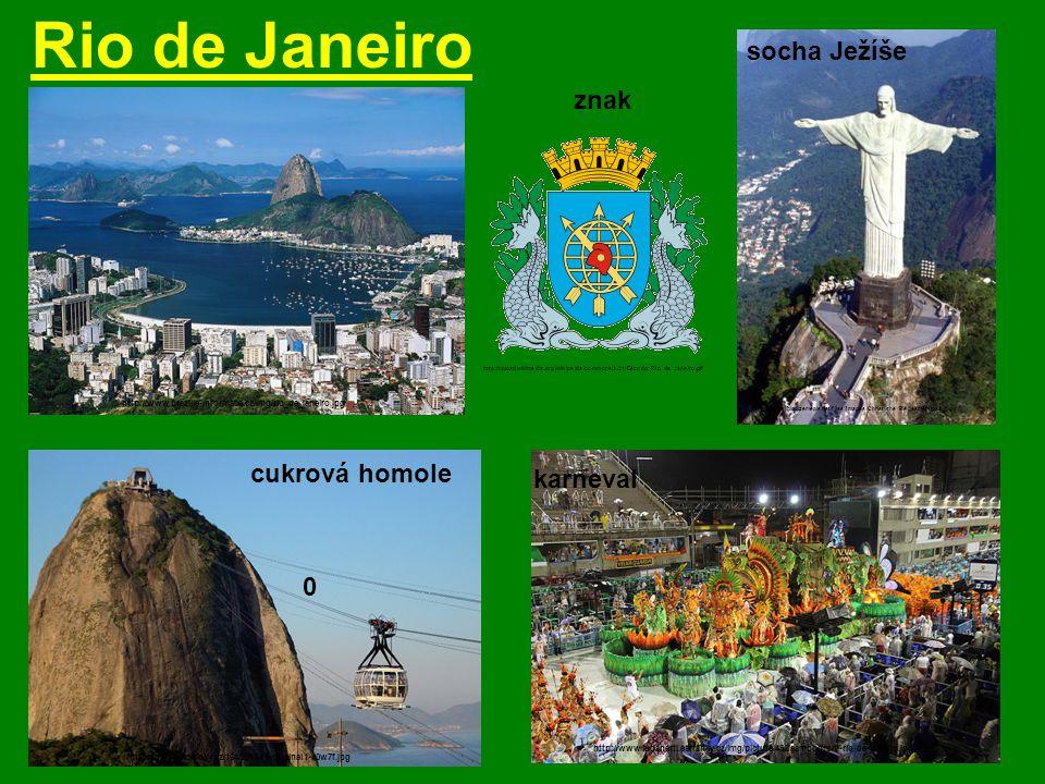 Rio de Janeiro socha Ježíše znak cukrová homole karneval
