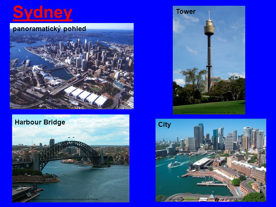 Sydney Tower panoramatický pohled Harbour Bridge City