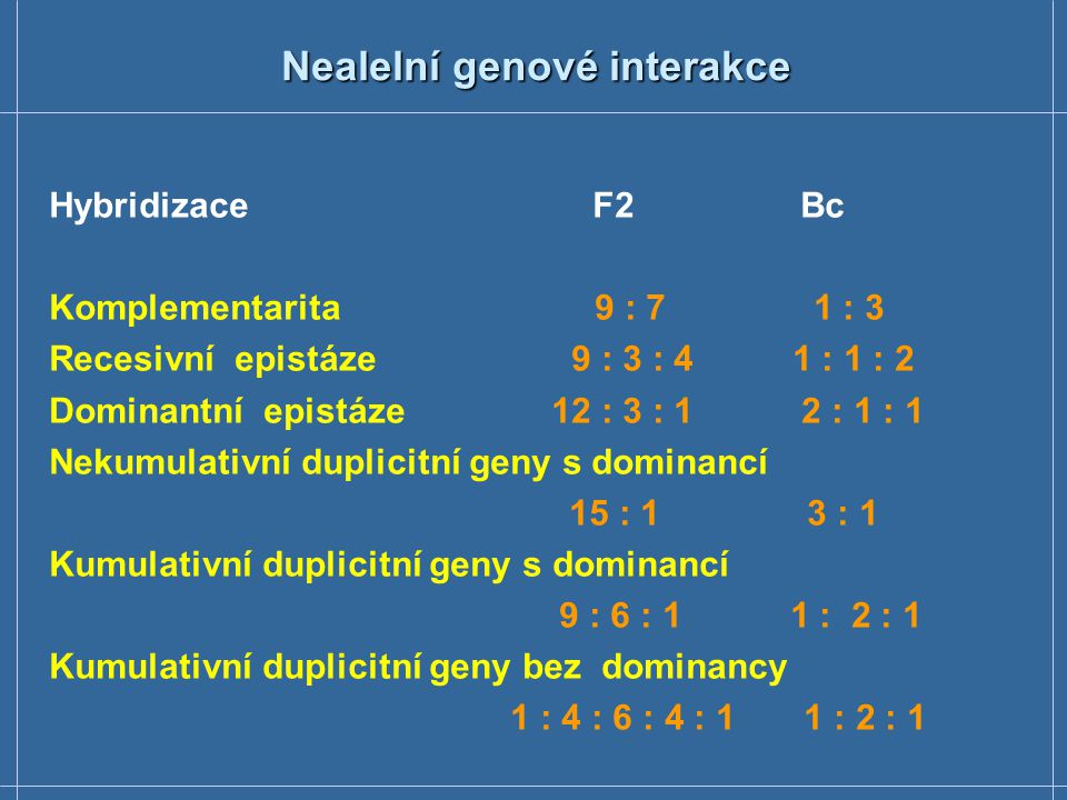 Nealelní genové interakce