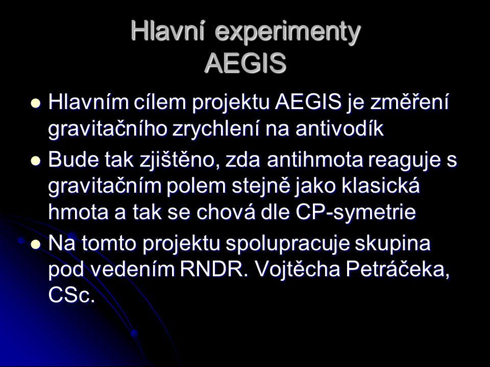 Hlavní experimenty AEGIS