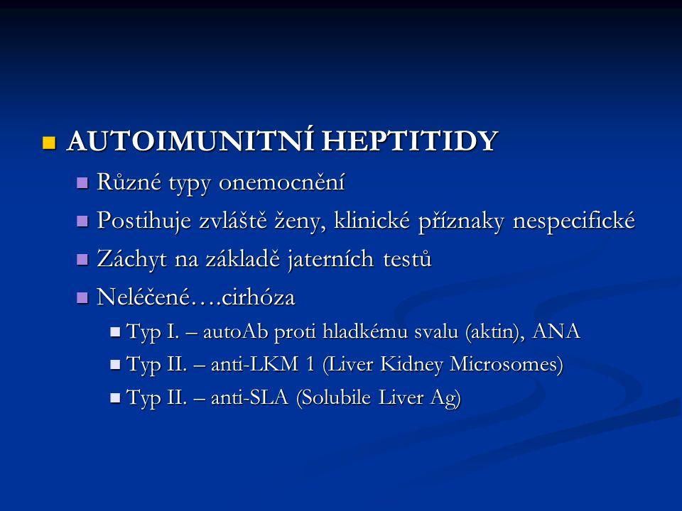 AUTOIMUNITNÍ HEPTITIDY