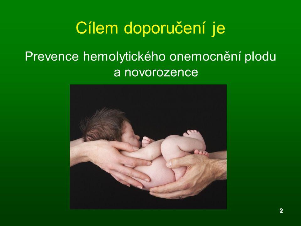 Prevence hemolytického onemocnění plodu a novorozence