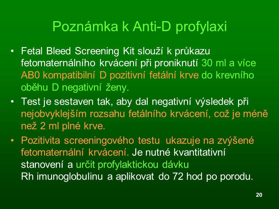Poznámka k Anti-D profylaxi