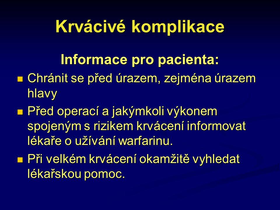 Informace pro pacienta: