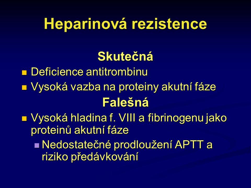 Heparinová rezistence