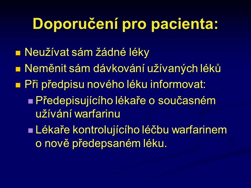 Doporučení pro pacienta: