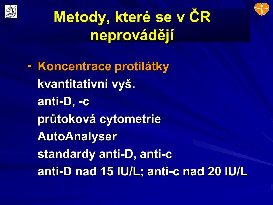 Metody, které se v ČR neprovádějí
