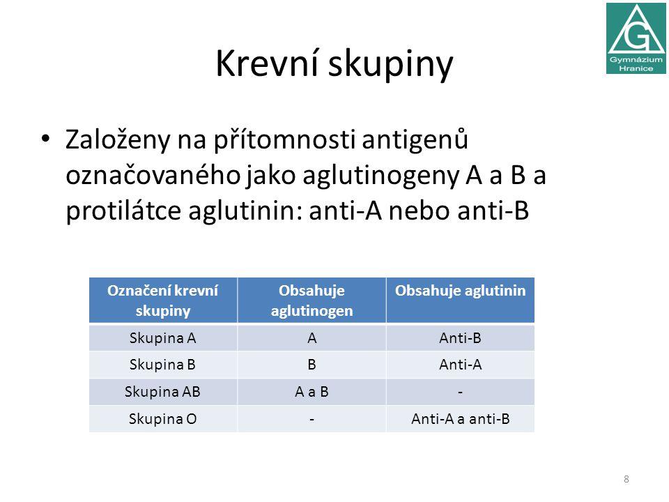 Označení krevní skupiny