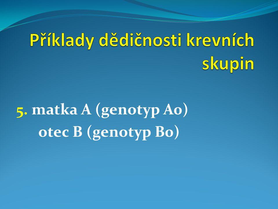 Příklady dědičnosti krevních skupin