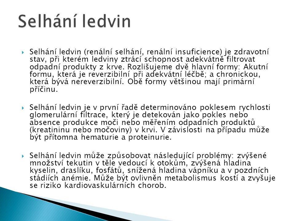 Selhání ledvin