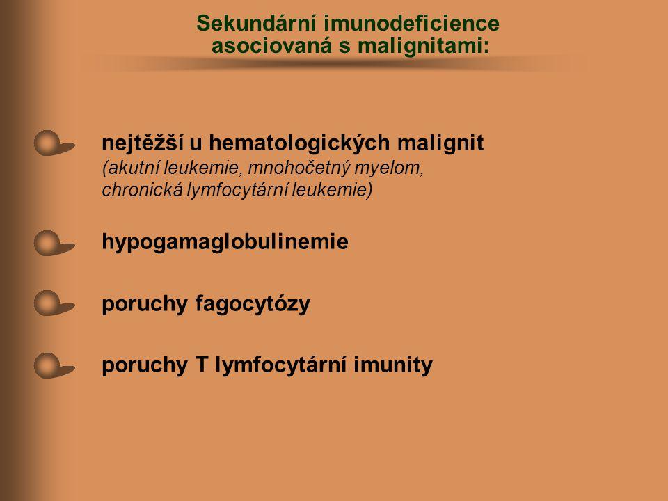 Sekundární imunodeficience asociovaná s malignitami: