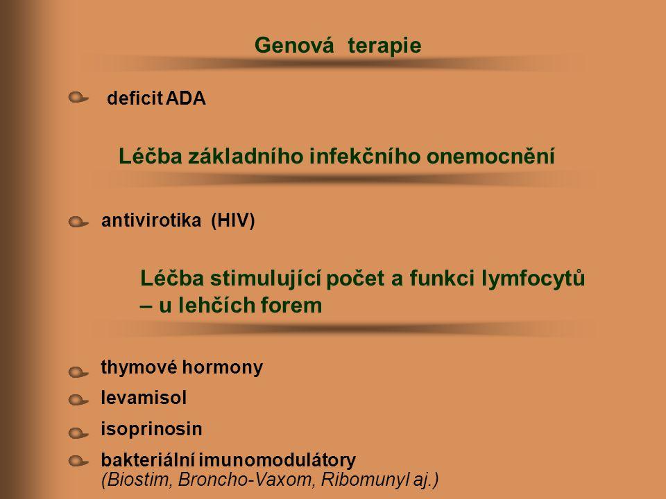 Léčba základního infekčního onemocnění