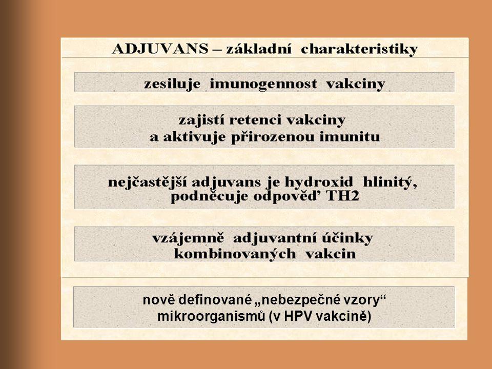 """nově definované """"nebezpečné vzory mikroorganismů (v HPV vakcině)"""