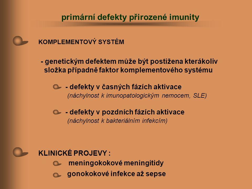 primární defekty přirozené imunity