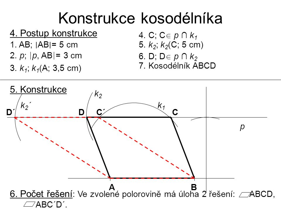Konstrukce kosodélníka