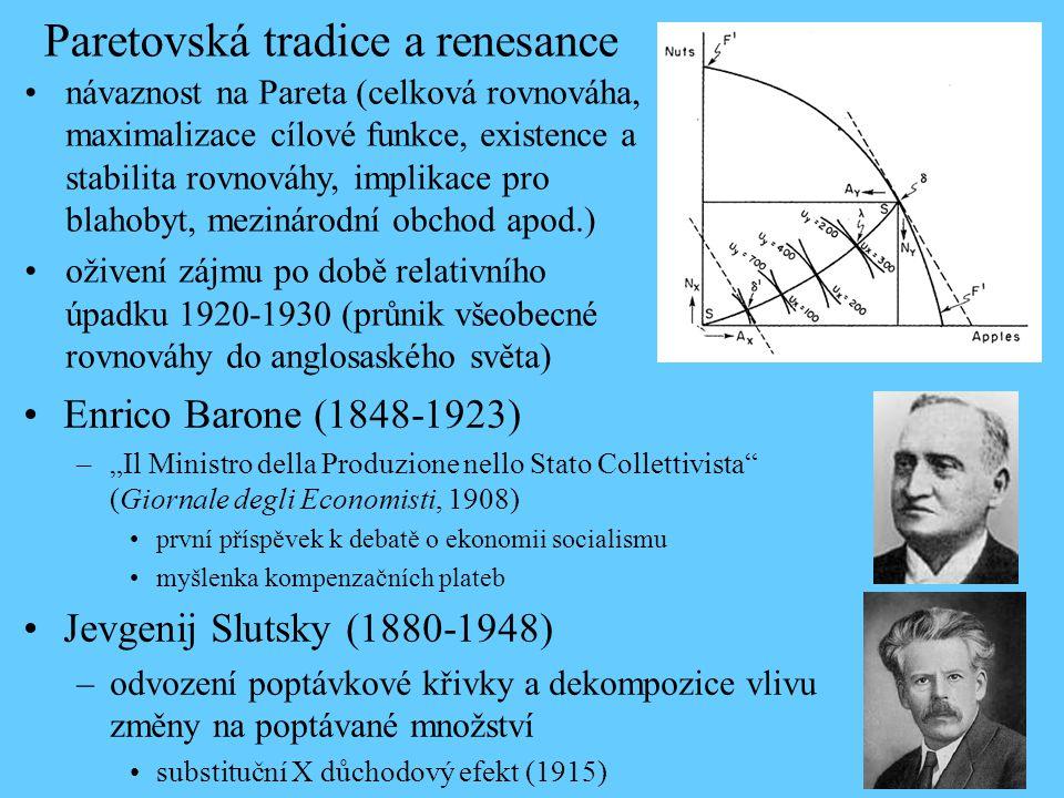 Paretovská tradice a renesance