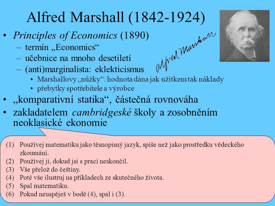 Alfred Marshall (1842-1924) Principles of Economics (1890)