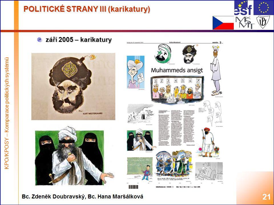 POLITICKÉ STRANY III (karikatury)