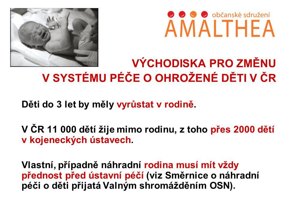 V SYSTÉMU PÉČE O OHROŽENÉ DĚTI V ČR
