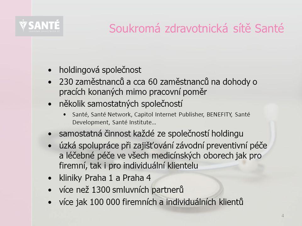 Soukromá zdravotnická sítě Santé