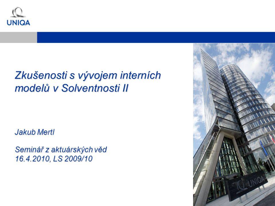 Zkušenosti s vývojem interních modelů v Solventnosti II