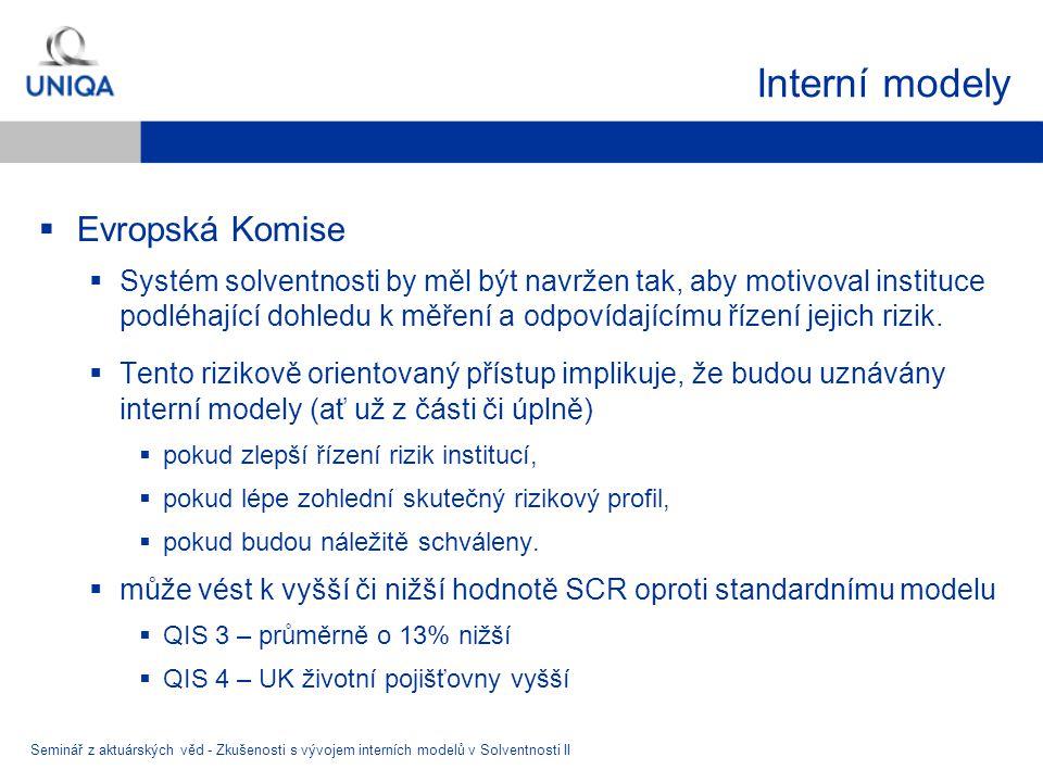 Interní modely Evropská Komise