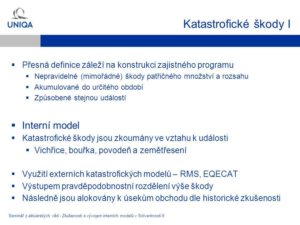 Katastrofické škody I Interní model