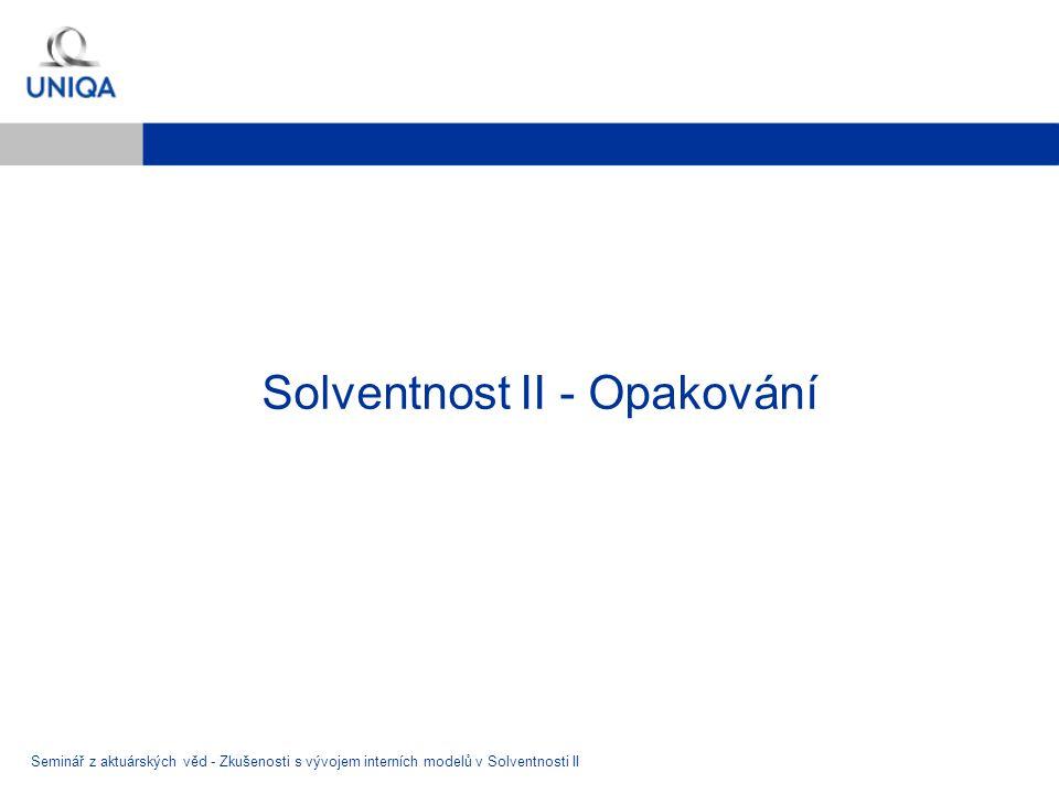 Solventnost II - Opakování