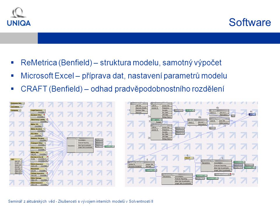 Software ReMetrica (Benfield) – struktura modelu, samotný výpočet