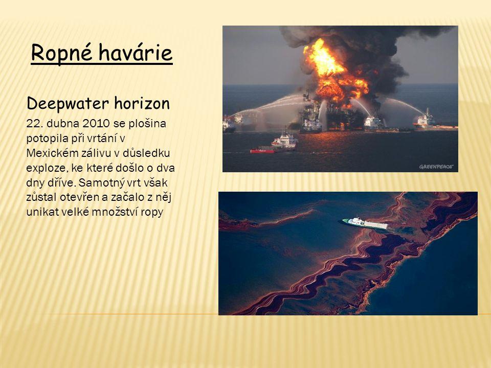 Ropné havárie Deepwater horizon