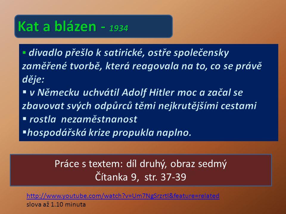 Práce s textem: díl druhý, obraz sedmý