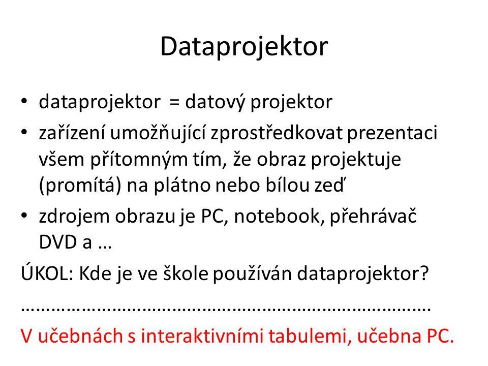 Dataprojektor dataprojektor = datový projektor