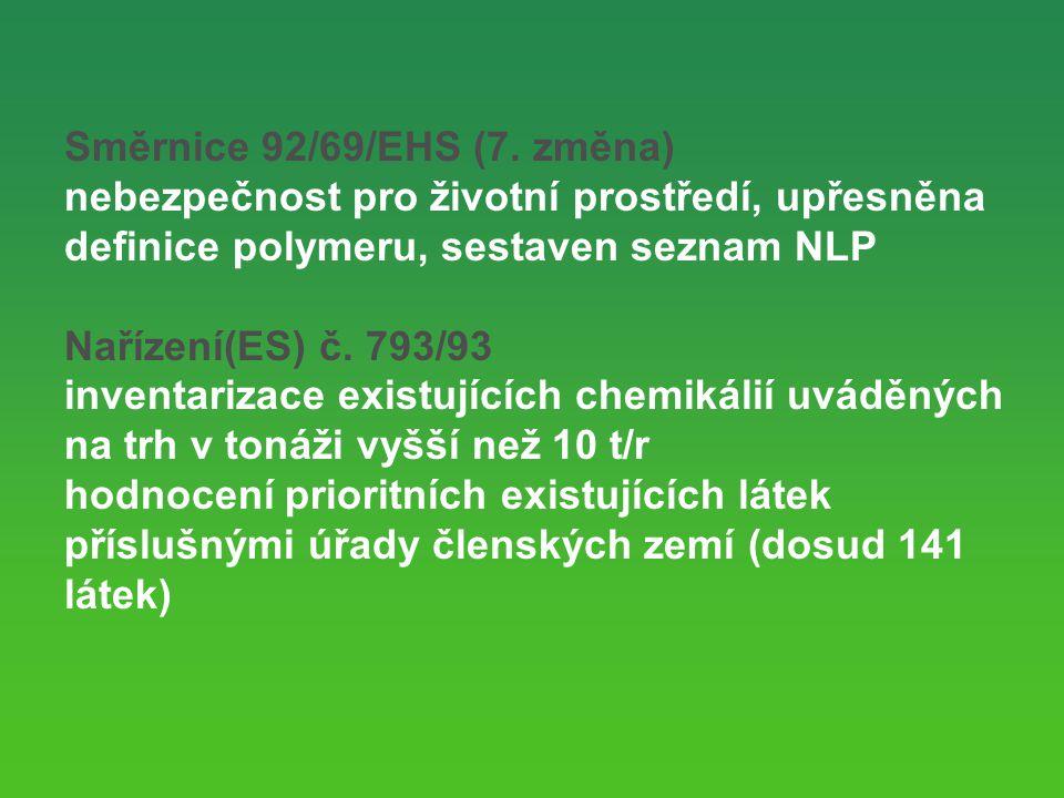 Směrnice 92/69/EHS (7. změna)