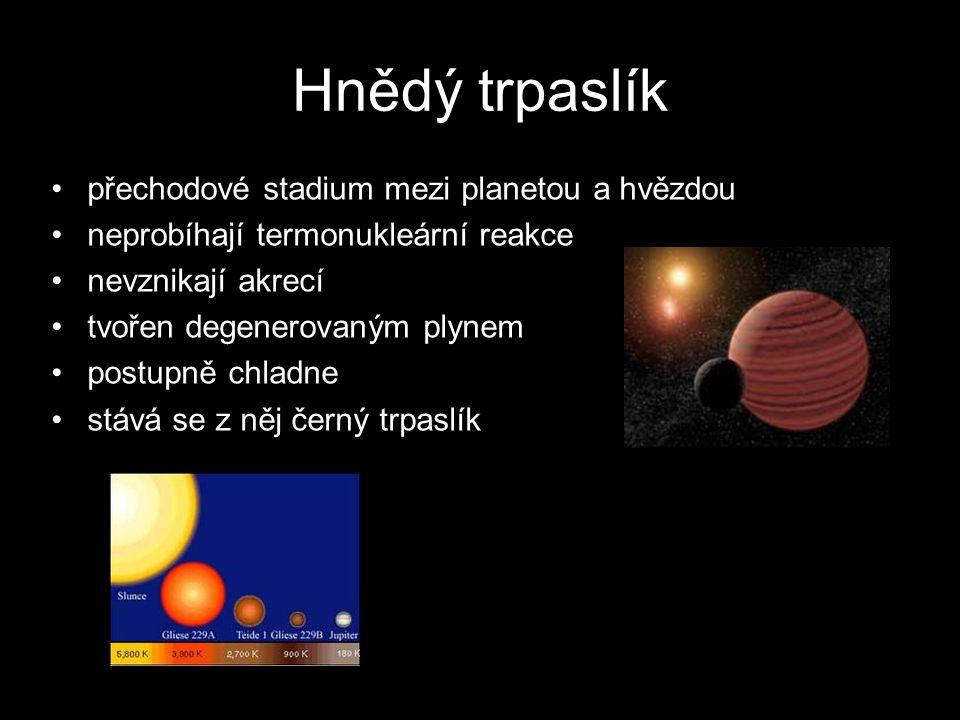 Hnědý trpaslík přechodové stadium mezi planetou a hvězdou