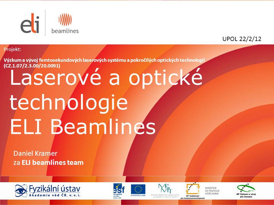 Laserové a optické technologie ELI Beamlines