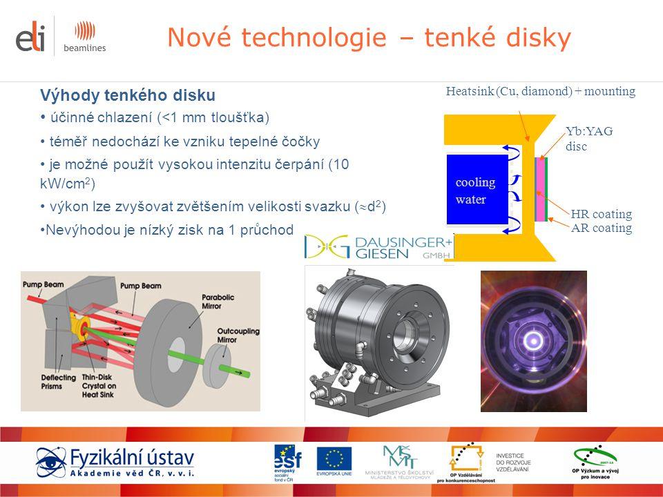 Nové technologie – tenké disky