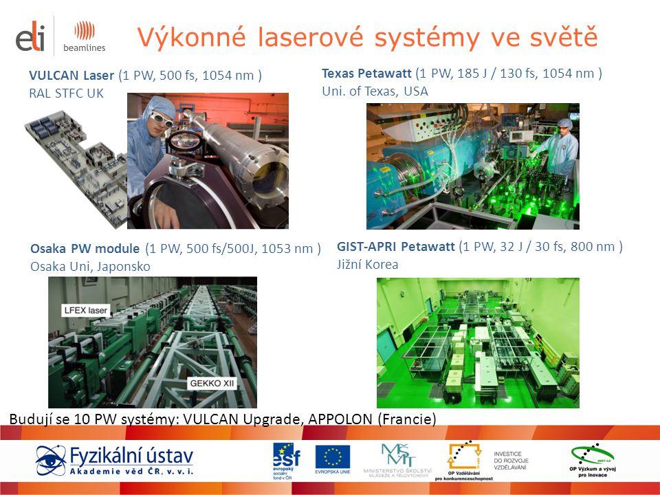 Výkonné laserové systémy ve světě