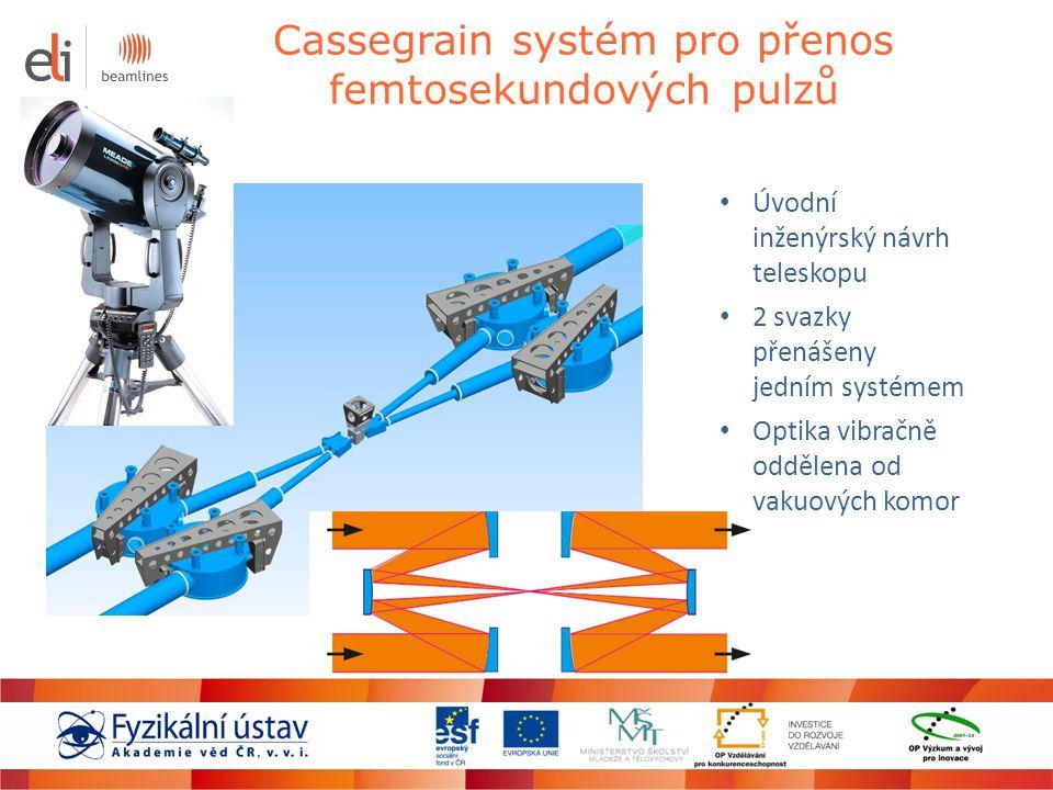 Cassegrain systém pro přenos femtosekundových pulzů