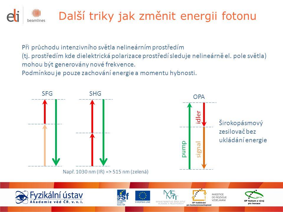 Další triky jak změnit energii fotonu
